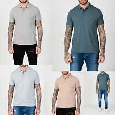 All Saints Mens New Designer Collared Smooth Cotton Blend Polo Shirt T shirt Tee