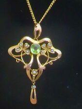Eccezionale Art Nouveau Peridot CIONDOLO # 044
