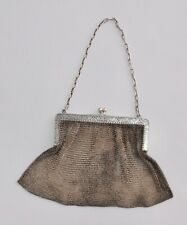 Heavy Hallmarked Sterling Silver Mesh Purse / Hand Bag - 225g