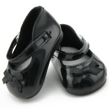 Doll Shoes Fits 18'' American Girl Doll Black Leather Shoes Doll Accessories