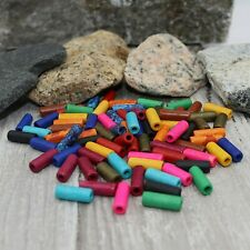 50 Ceramic Tube Beads 17mm Assorted Lot Mixed Colors Bulk Jewelry Supplies Mix