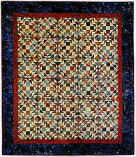 "New Pieced Quilt Pattern SCRAPPY TAFFY  Size shown 66""x76"""
