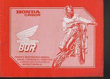 (C7A) REVUE TECHNIQUE MANUEL ATELIER MOTO HONDA CR 80R de 1988