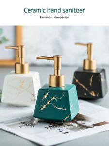 Ceramics MARBLE CERAMIC LOTION SHAMPOO LIQUID SOAP DISPENSER PUMP BOTTLE
