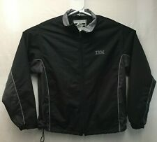 Vintage IBM Employee Black Jacket men's Sz L