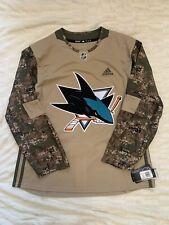 Adidas Men's San Jose Sharks Camo Veterans Day Jersey Military Size 54