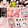 New 24pcs/Pack Multicolor French False Nails Nail Art Design Nail Tips With Glue