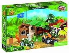 ARMY JUNGLE BASE  250 pcs *Compatible* Construction Plastic Bricks Bike Forest