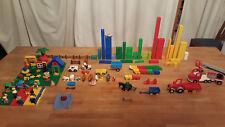 LEGO DUPLO Konvolut 4,5 kg: Steine/Tiere/Figuren/Fahrzeuge + 4 Bauplatten