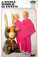 "Vintage Patons Knitting Pattern Book - A SMALL WORLD-  20"" to 26"" Chest in DK"