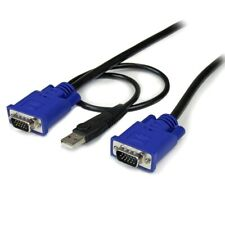 10 ft 2-in-1 Ultra Thin USB KVM Cable