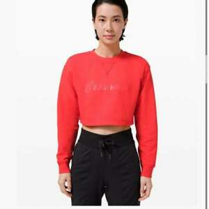 Lululemon All Yours Cropped Crew *LNY Red Sweatshirt SZ 8 NWT