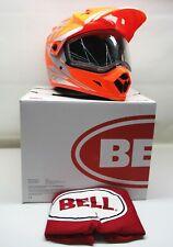 Bell Orange/Silver Mx9 Adventure Barricade Snow Hlmt w/Dual Lens Shield -7075982