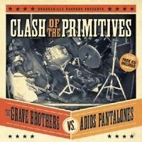 GRAVE BROTHER VS. ADIOS PANTALONES - CLASH... (SPLIT ALBUM)  VINYL LP + CD NEW