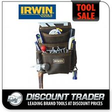 Irwin 10 Pocket Oil Tanned Leather Nail and Tool Bag - CC-825