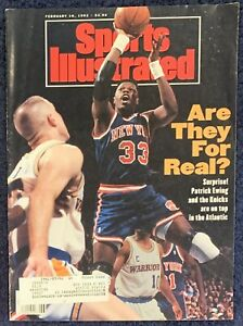 2.10.1992 PATRICK EWING Sports Illustrated NY KNICKS Shaquille O'neal LSU TIGERS