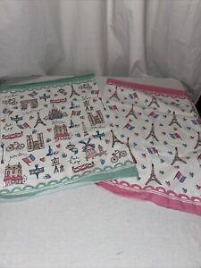 Milly Green Paris Tea Towels set of 2