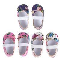 Newborn Baby Kids Girls Floral Shoes Soft Sole Crib Shoes Prewalker Shoes 0-18M