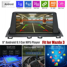 9'' Android 9.1 Touch Screen 2.5D GPS 1G+16G Car Radio MP5 Player Fit for Mazda3