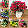 36 Heads Artificial Mini Flower Bud Silk Floral Wedding Party Home Office Decor
