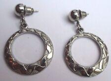 B O boucles pour oreilles percées bijou rétro couleur argent anneaux rhodié 2095