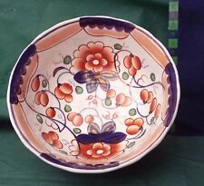 antique hand painted gaudy welsh slop bowl sugar bowl c 1870 dresser display
