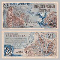 Indonesien / Indonesia 2 1/2 Rupiah 1960 p77 unz.