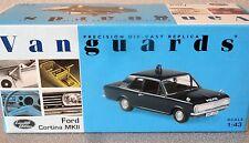Corgi Vanguards 1:43 VA04104  Ford Cortina Mk2  THAMES VALLEY POLICE..excellent!