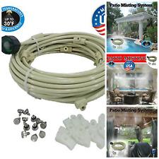 Home Garden Pre Assembled Cool Misting System Kit DIY Hose Spigot Attachment 24'