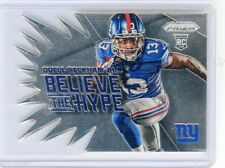 "2014 PRIZM #BH12 ODELL BECKHAM JR. ""BELIEVE THE HYPE"" ROOKIE RC, GIANTS, 072615C"