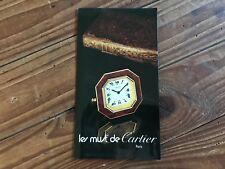 Folleto Les Must de CARTIER Booklet Pendulettes - Paris - Watches Relojes