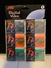 JVC Digital Video Cassette 6pk LP Mode 90min