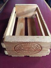 Napa Valley Box Co. Wood Crate Cassette Cd/Dvd Storage Wine Desktop Stackable