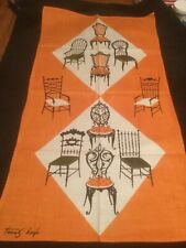 Vintage Tammis Keefe CHAIRS Dish Towel - NEW