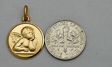 10K solid gold Guardian Angel charm / pendant