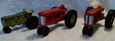 2 Diecast Vintage Red Hubley Jr International Tractors & a Minneapolis Moline