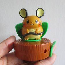 New listing hamtaro dedenne hamster figure on log brown whistle pvc model nintendo toy
