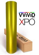 Gold Satin Chrome VViViD XPO 100ft x 5ft car vehicle wrap vinyl sheet roll film
