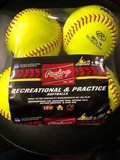 Rawlings recreational & practice softballs. 12u