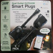 Feit Wi-Fi Smart Plug 2-pack Dual Outlet Outdoor Smart Plugs ~ New Open Package~