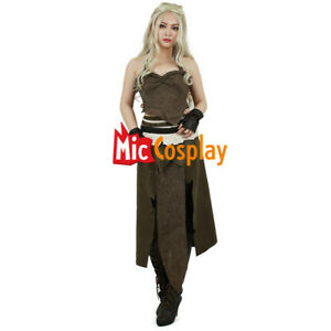 Daenerys Targaryen Cosutme Brown Cosplay Mother of Dragons Game of Thrones