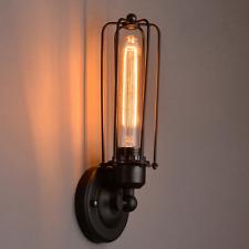 Adjustable Industrial Vintage Loft Rustic Metal Wall Lamp Long Cage Wall Lights