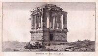 Gravure XVIIIe Tombeau de Milas Gumuskesen Mylasa Mylasus Μύλασα Greece Turkey