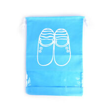 Waterproof Portable Shoes Bag Clothes Travel Storage Pouch Drawstring Dust 0g Blue L