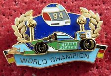 PIN'S F1 FORMULA ONE BENETTON MILD SEVEN WORLD CHAMPION 1994 ZAMAC 2D