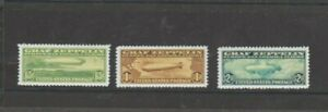 U.S. 1930 Graf Zeppelin Copy Issues, Set of 3, mint NH Very Fine