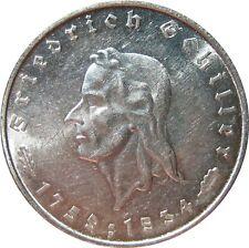 J359  5 RM DRITTE REICH Friedrich Schiller von 1934 F in VZ-STG  709003