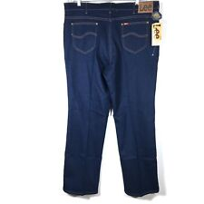 Lee Vintage Jeans Comfort Stretch Mens Fit 44 x 32 Dark Wash Made USA NOS NWT