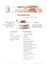 CHRYSLER CROSSFIRE FIRE 112 Feuerwehr Prospekt Brochure Sheet 34