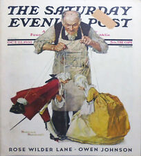 -Rare- 1932 -Norman Rockwell/Marionettes Cover- Saturday Evening Post Magazine